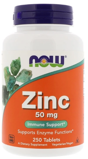 NOW Zinco 50mg, 250 Tablets