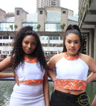 White Satin Ankara Crop Top