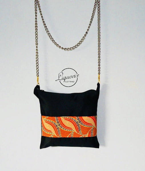Ankara Adjustable Crossbody Pouch Bag