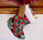 African Wax Print Christmas Stocking