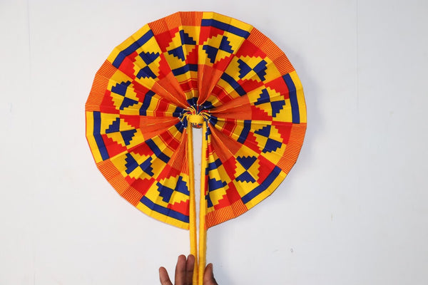 Primary Coloured Africanprint Fan
