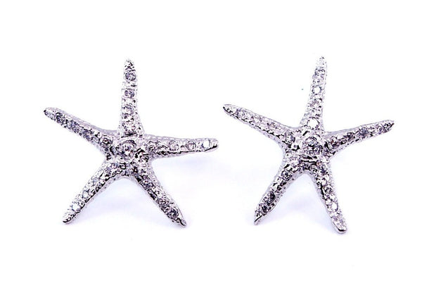 18k White Gold + Diamond Starlette Studs