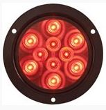 "STL42RB 4"" Round Sealed LED Lights with Mounting Flange"