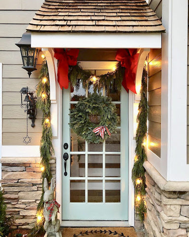 Blended Bay Wreath & Cedar Garland