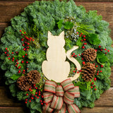 cat love wreath
