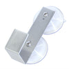 Aluminum window wreath hanger with two suction cups