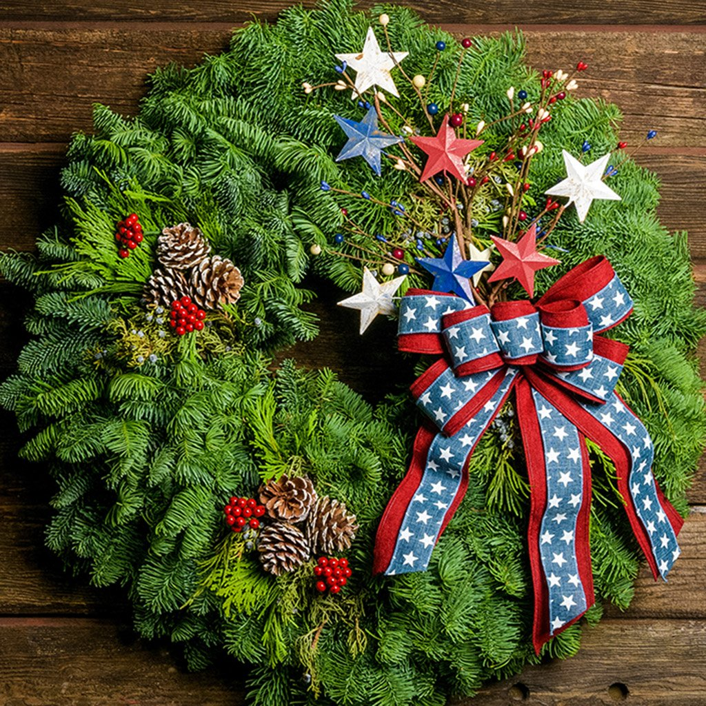 Holiday Americana Wreath