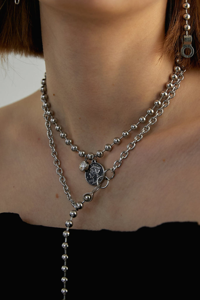 Ball Chain Chocker_Coin - Realeesm
