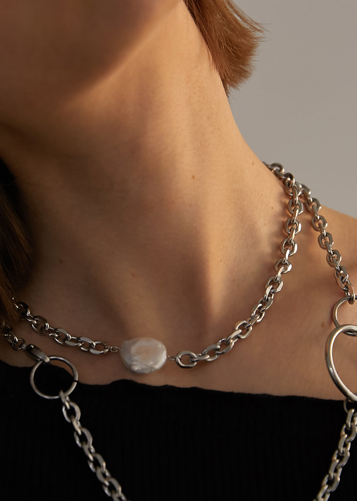Chain Chocker_Pearl - Realeesm