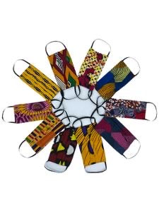 Afrocentric Print Fashion Face Mask No filter Pocket  (Random Prints)