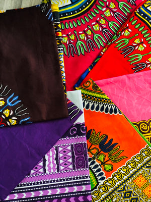 Solid Color Dashiki Large Head-wrap
