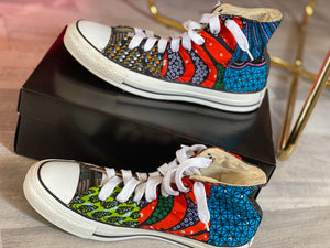 Aloha Glamour High-Top Designer Sneakers