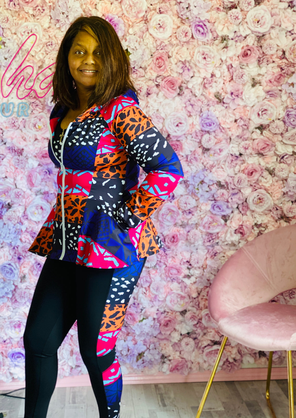 Tiger Rainbow Peplum Jacket