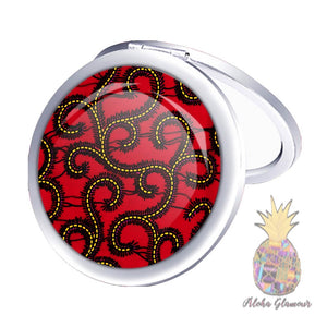 Ankara-Print Pocket Mirror