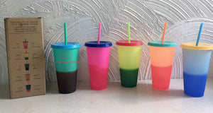 Aloha Glamour Color Changing  Reusable Cups