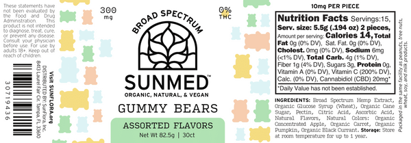 Your CBD Store  Vegan Gummy Bears - 30 Count -