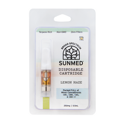 250mg Lemon Haze Vape Cartridge