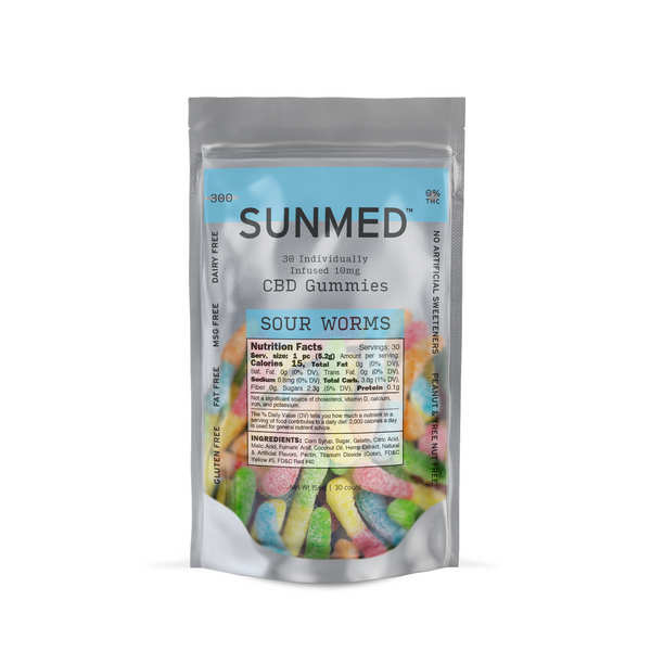 Your CBD Store  Sour Mini Neon Worms -  Edibles
