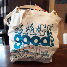 Load image into Gallery viewer, 'Bag of Goods' Cotton Shopping Bags