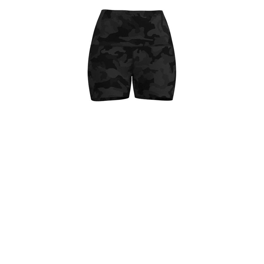 W High-Rise Impact Short - Luxe Brushed - Camo Grey