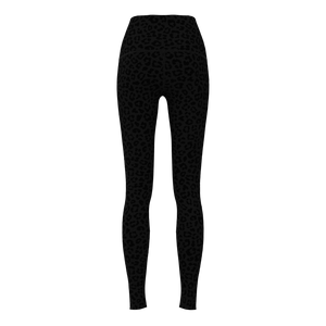 W No-Outseam Legging - Luxe Brushed - Leopard Grey