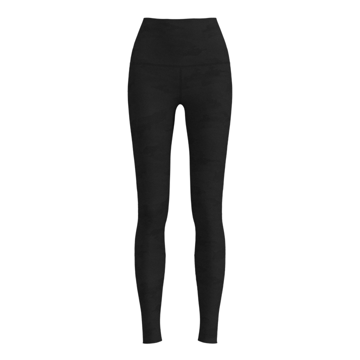 W No-Outseam Legging - Luxe Embossed - Camo Black