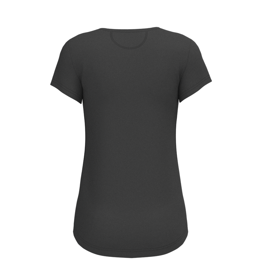 W Scoop Tee - Nacar - Black