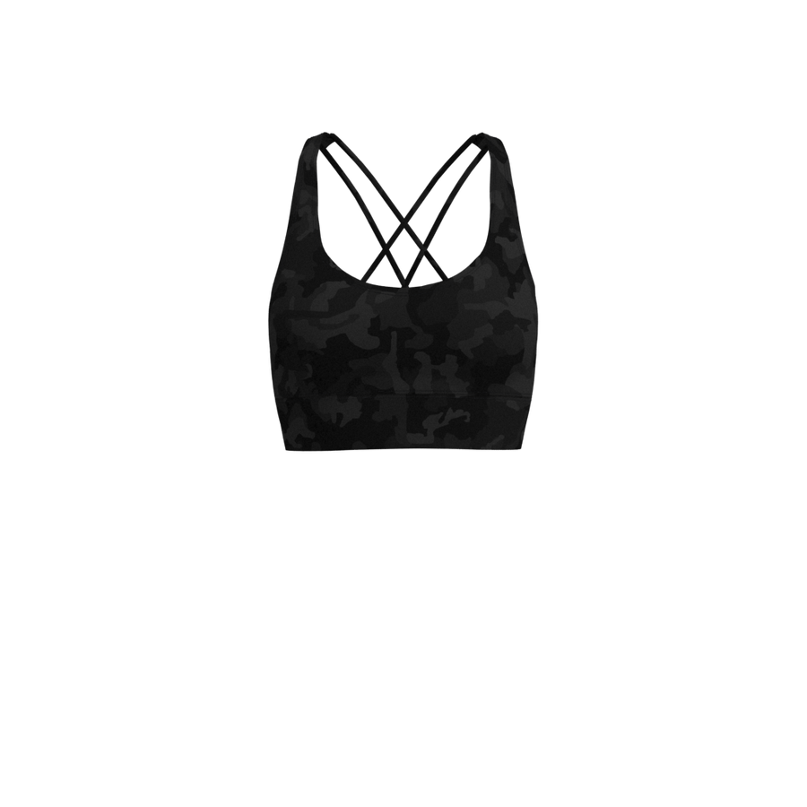 W Cross-Back Bra - Luxe Brushed - Camo Grey