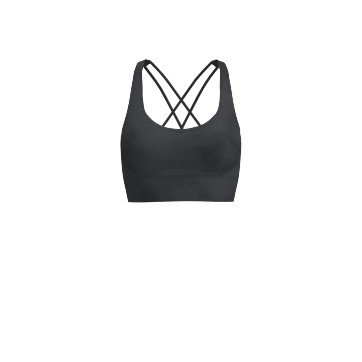 W Cross-Back Bra - Luxe Brushed - Stonewash Grey