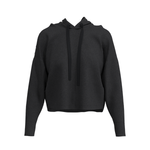 Crop Hoodie - Armstrong - Charcoal