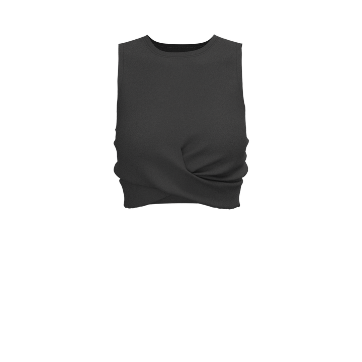 W Cross Tank - Pyramide - Black