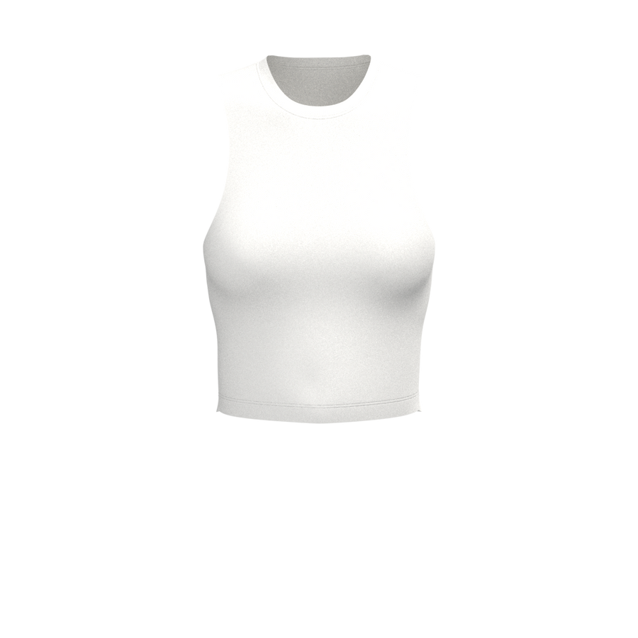 W Straight Crop Tank - Paloma - White
