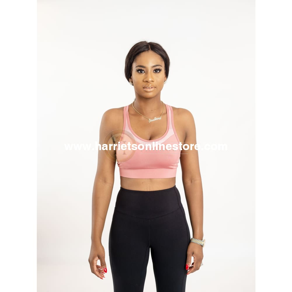 Sports Bra Cross Back Design Adjustable