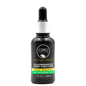 Phytocannabinoid Rich Hemp Tinctures-Peppermint 600mg