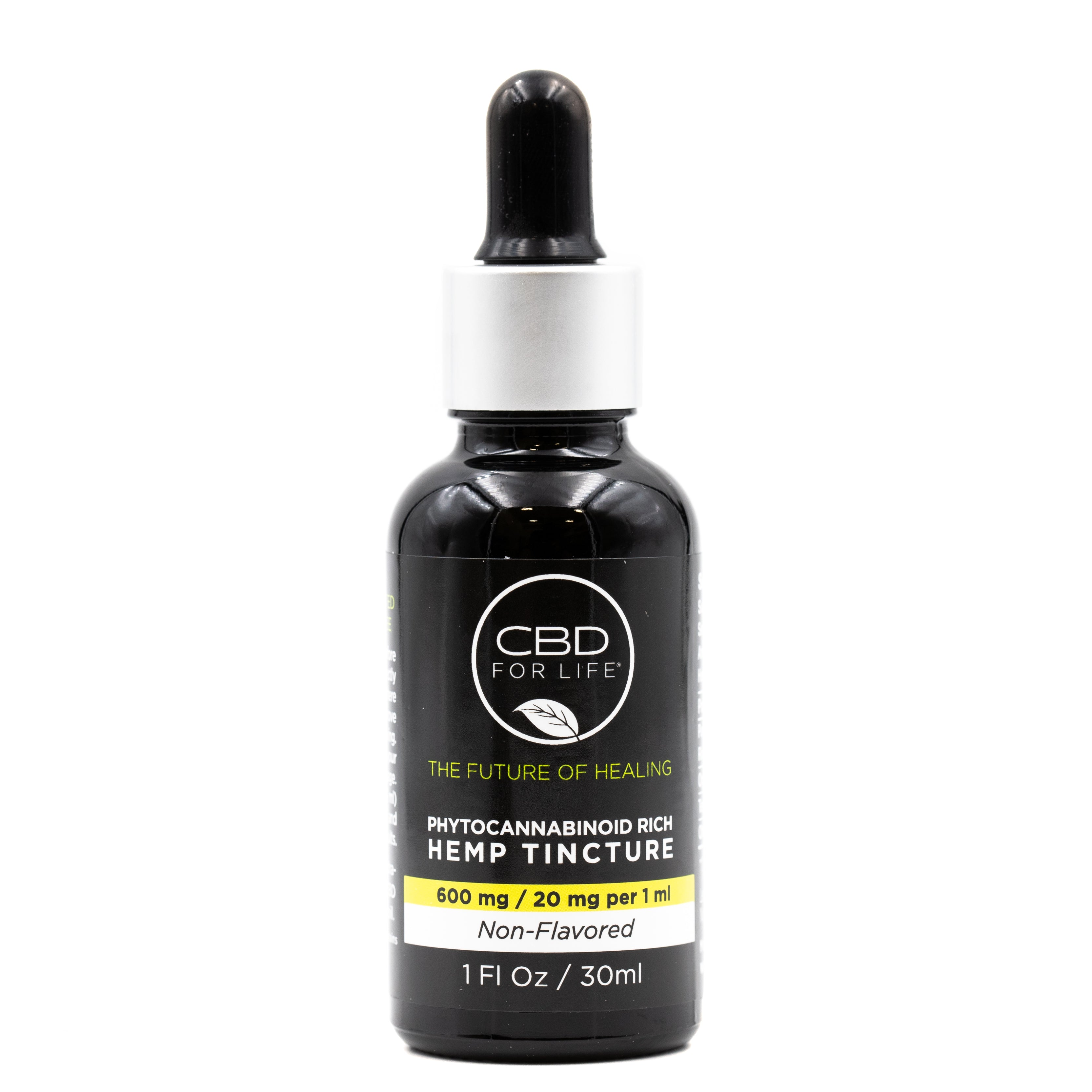 Phytocannabinoid Rich Hemp Tinctures-Non flavored 600mg