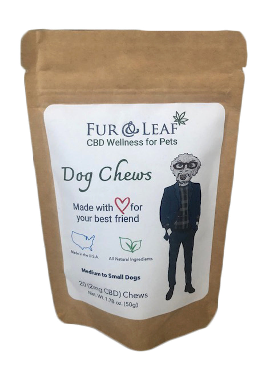 CBD 2mg Dog Chews 20pcs