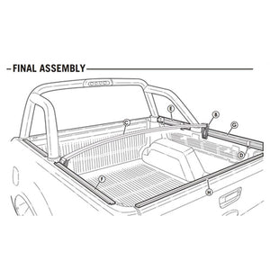 Genuine No Drill Clip On Tonneau Cover - Holden Colorado Dual Cab