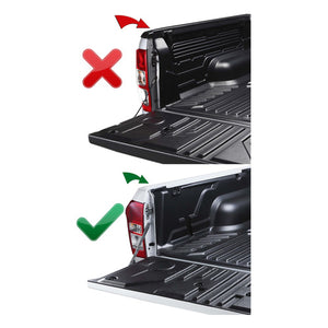 Headboard Clip On Tonneau Ute Soft Cover - Great Wall V200 V240 Dual Cab 09-15