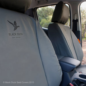 Black Duck Seat Covers Nissan Navara D23 NP300 RX, ST & ST-X Dual Cab (Series 1 and 2) - 15-17