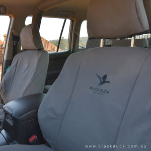 Black Duck Seat Covers Nissan Navara D40 ST-X (Series 5 and 6) - 11-15