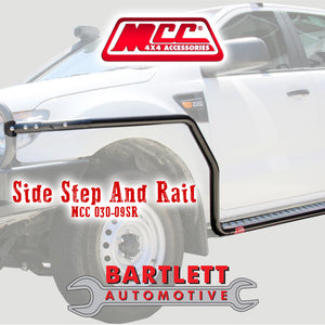 Isuzu D-Max 12-16 (High-Ride 2WD & 4WD) - MCC 4x4 Side Steps & Side Rails