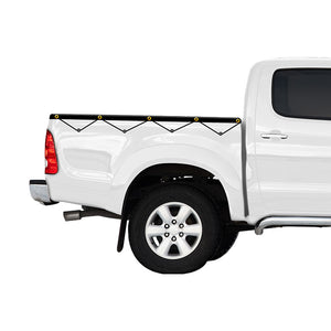Headboard Rope Tonneau Ute Soft Cover - Mitsubishi Triton Single Cab 88-96
