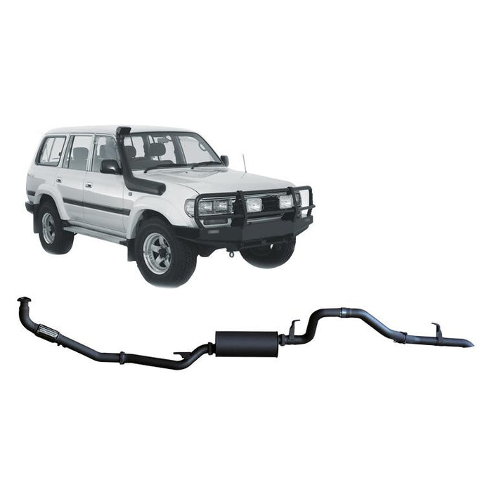 Redback 4x4 - 4x4 Performance Exhaust To Suit Toyota Landcruiser 80 Series (1990-1998) (STD)