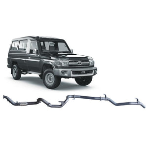 Redback 4x4 Extreme Duty - 4x4 Performance Exhaust To Suit Toyota Landcruiser 78 Series (2007-2016) (Twin Pipe System)