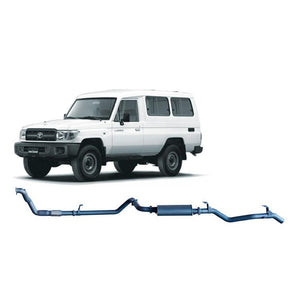 Redback 4x4 Extreme Duty - 4x4 Performance Exhaust To Suit Toyota Landcruiser 78 Series (2001-2007)