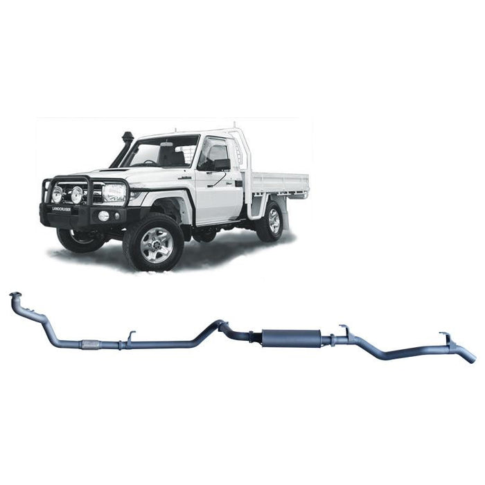 Redback 4x4 Extreme Duty - 4x4 Performance Exhaust To Suit Toyota Landcruiser 79 Series (1990-2007) (STD)