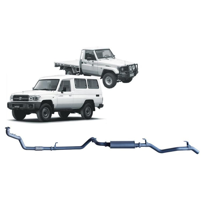 Redback 4x4 Extreme Duty - 4x4 Performance Exhaust To Suit Toyota Landcruiser 75 Series, 78 Series (1990-2007) (STD)