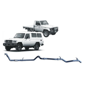 Redback 4x4 Extreme Duty - 4x4 Performance Exhaust To Suit Toyota Landcruiser 75 Series, 78 Series (1990-2007) (SAF)
