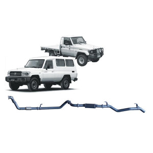 Redback 4x4 Extreme Duty - 4x4 Performance Exhaust To Suit Toyota Landcruiser 75 Series, 78 Series (1990-2007) (DTS)
