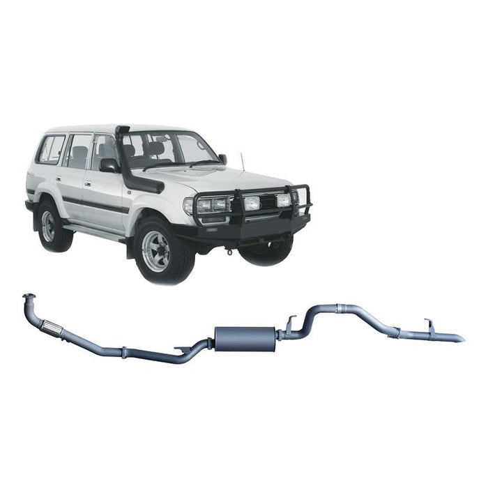 Redback 4x4 Extreme Duty - 4x4 Performance Exhaust To Suit Toyota Landcruiser 80 Series (1990-1998)